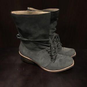Latigo Dark Grey Suede Leather Bootie - Size 9